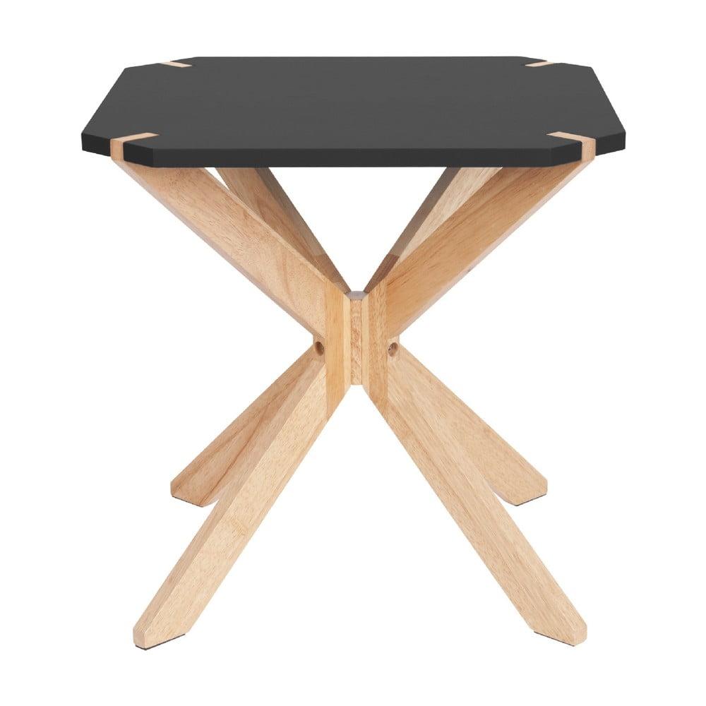 Černý příruční stolek Leitmotiv Mister, 45 x 45 cm