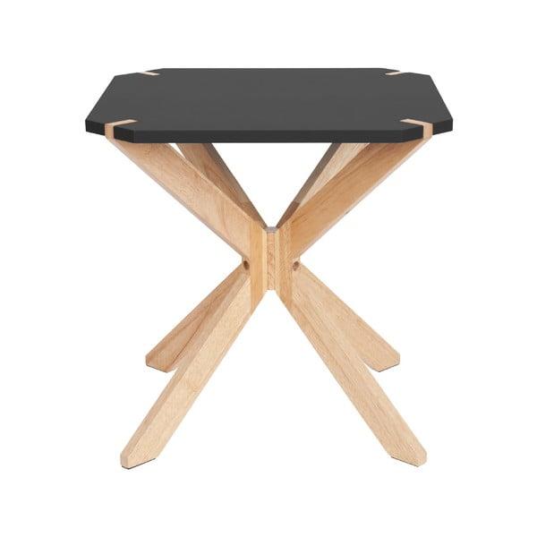 Mister fekete tárolóasztal, 45x45cm - Leitmotiv