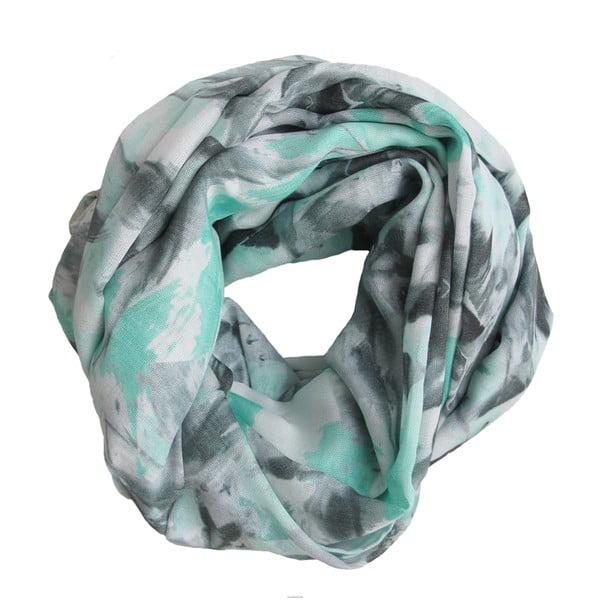 Vlněný šátek s kašmírem Lotus Turquoise, 130x130 cm