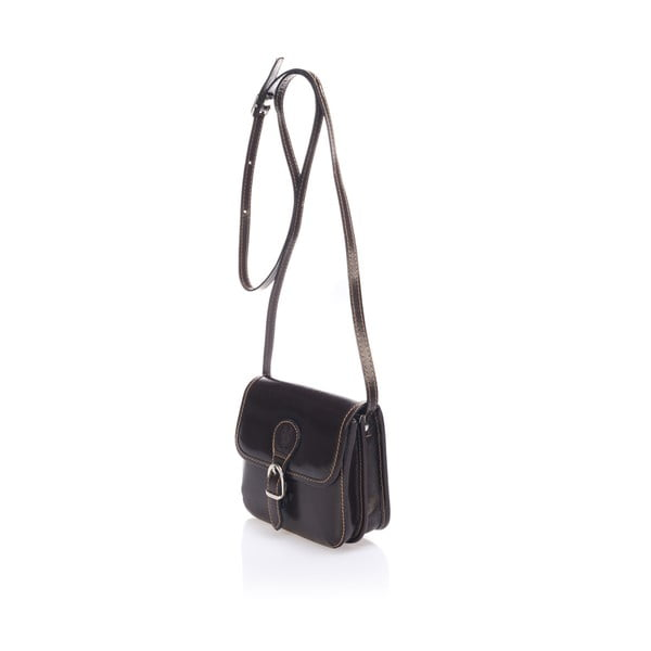 Tmavě hnědá kožená kabelka Lisa Minardi Laura