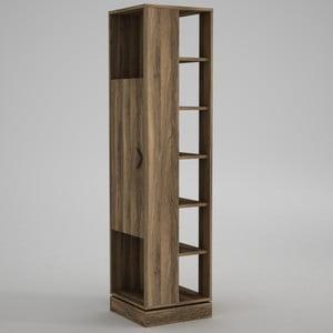 Vysoká skříňka spolicemi Roll Walnut, výška180cm