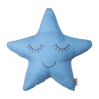 Pernă din amestec de bumbac pentru copii Apolena Pillow Toy Star, 35 x 35 cm, albastru de la Apolena