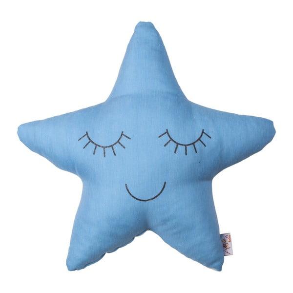 Pernă din amestec de bumbac pentru copii Apolena Pillow Toy Star, 35 x 35 cm, albastru