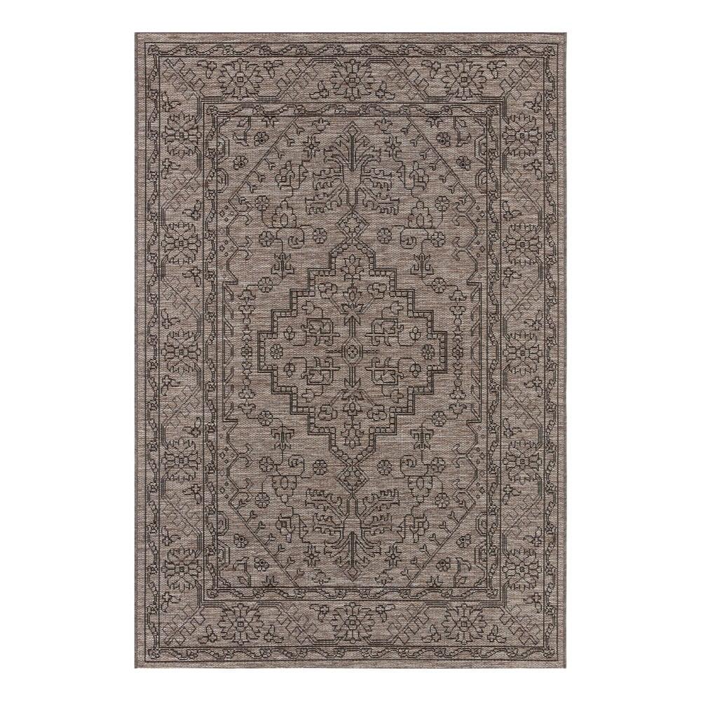 Šedohnědý venkovní koberec Bougari Tyros, 200 x 290 cm