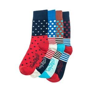 Sada 4 párů unisex ponožek Funky Steps Roni,39-45cm