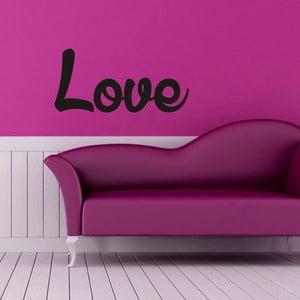 Samolepka na stěnu Love by Hand
