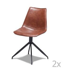 Sada 2 světle hnědých židlí Furnhouse Isabel