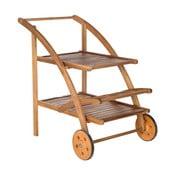 Hnědý zahradní dřevěný servírovací stolek Safavieh Riva