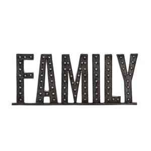 Dekorativní nápis Family, 51 cm