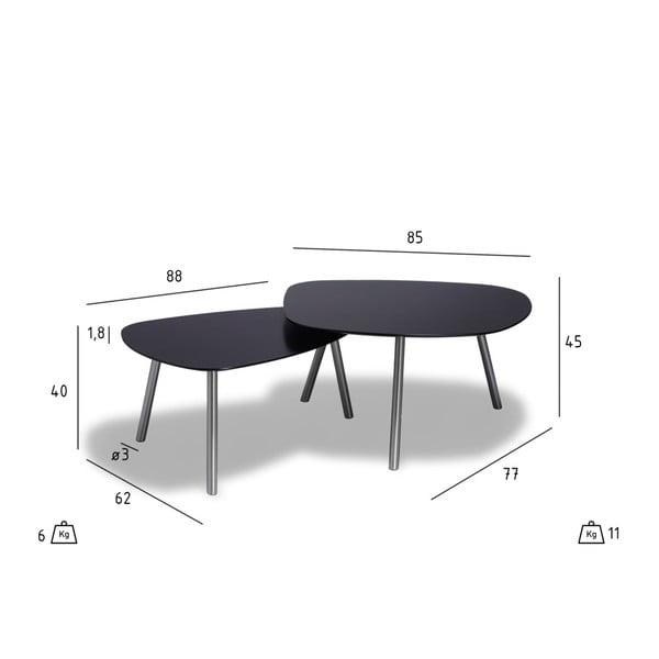 Černý konferenční stolek Furnhouse Malou, 88x62cm