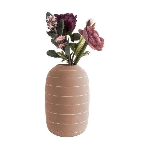 Keramická váza v terakotové barvě PT LIVING Terra, ⌀16cm