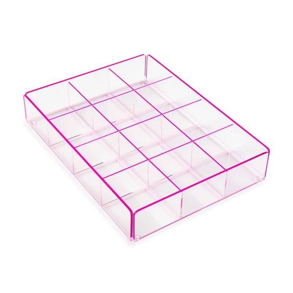 Ariel pink tárolódoboz 12 rekesszel - Versa