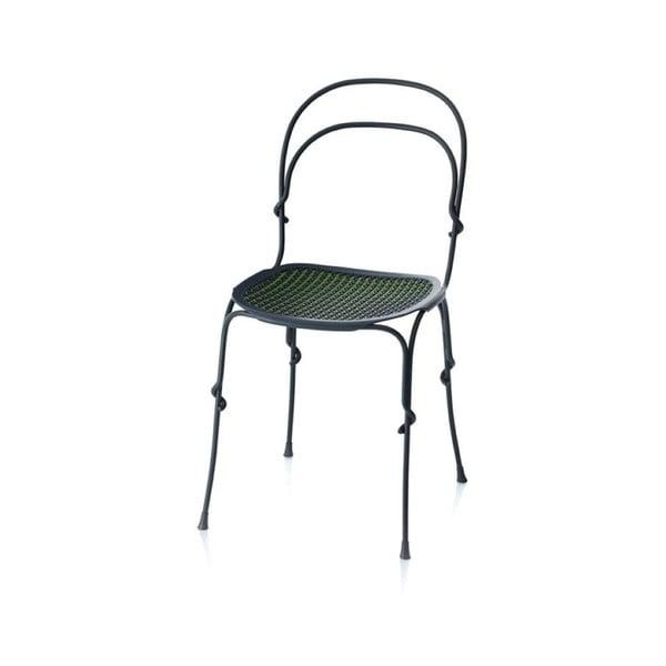 Šedo-zelená jídelní židle Magis Vigna