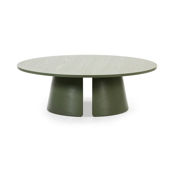Zelený konferenčný stolík Teulat Cep, ø 110 cm