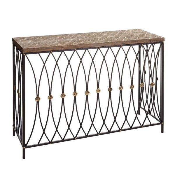 Konzolový stolek Brown Industrial, 107x38x77,5 cm