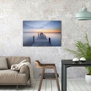 Skleněný obraz OrangeWallz Bridge, 60 x 90 cm