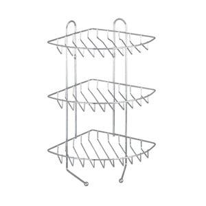 Třípatrová rohová nástěnná polička z nerezové oceli Wenko Exclusive