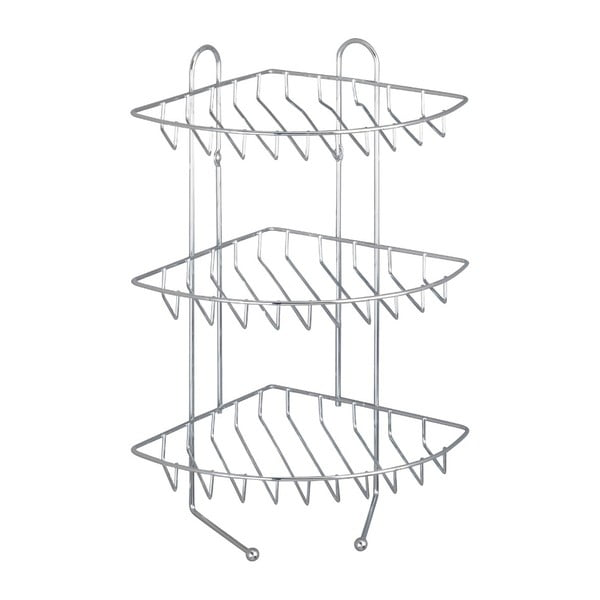 3-piętrowa narożna półka ścienna ze stali nierdzewnej Wenko Exclusive