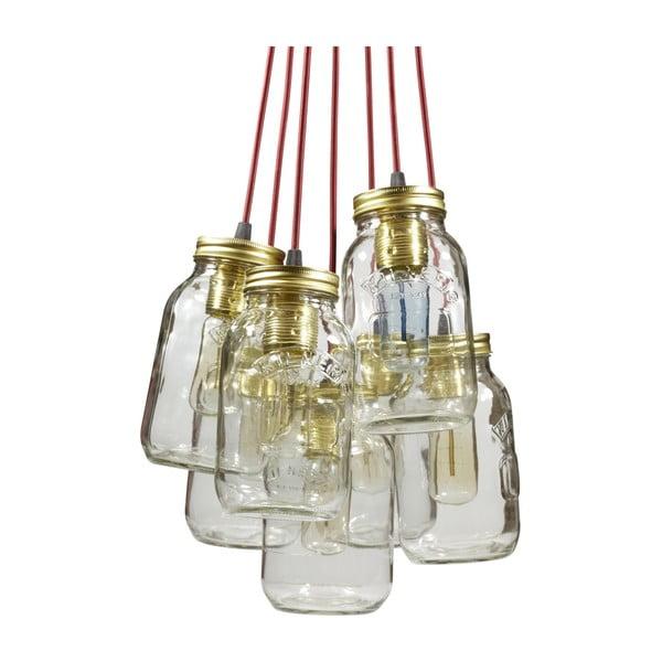 Závěsné světlo JamJar Lights, sedm vínových kabelů