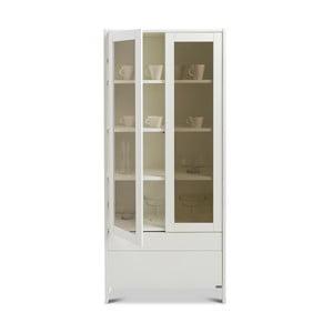 Bílá ručně vyráběná vitrína z masivního březového dřeva Kiteen Joki