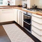 Vysoce odolný kuchyňský koberec Webtappeti Lattice Sand, 60x220 cm
