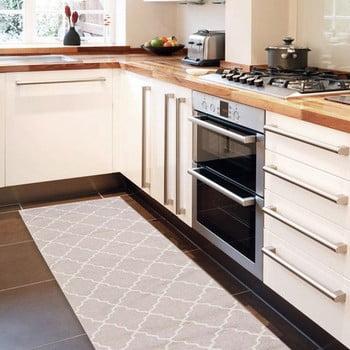 Covor de bucătărie, foarte rezistent Webtapetti Lattice Sand, 80x130cm