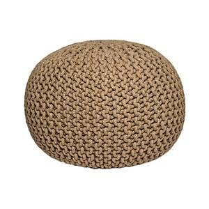 Béžový pletený puf LABEL51 Knitted