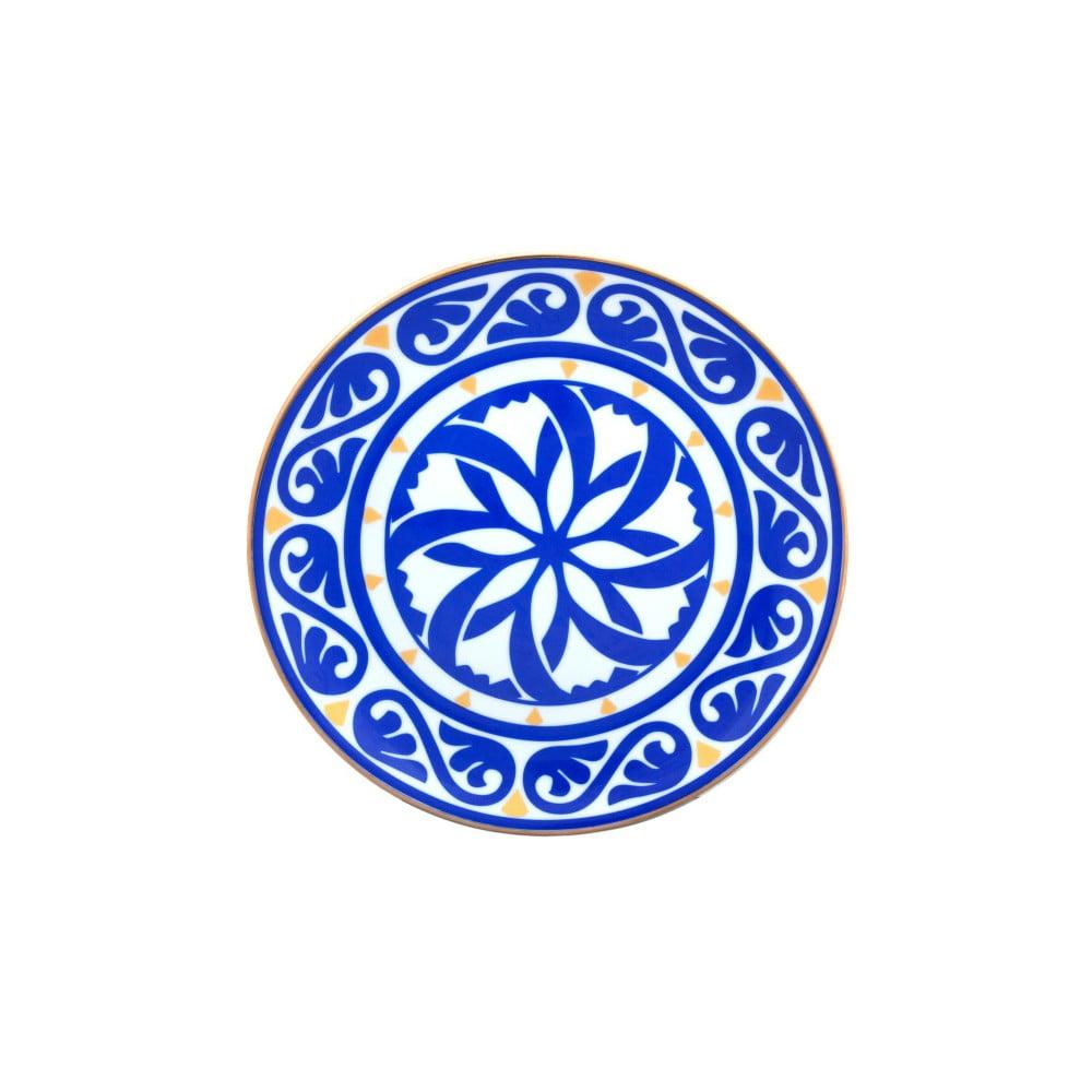 Modrobílý porcelánový talíř Vivas Peona, Ø23cm