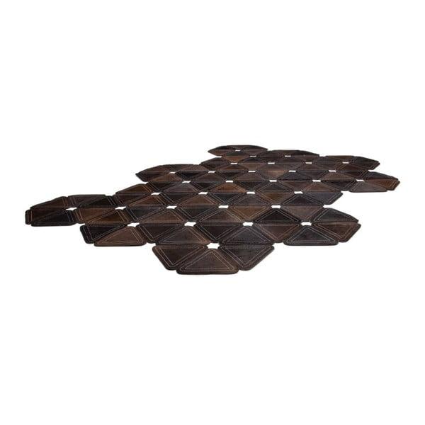 Kožený koberec Brown Revolution, 160x230 cm