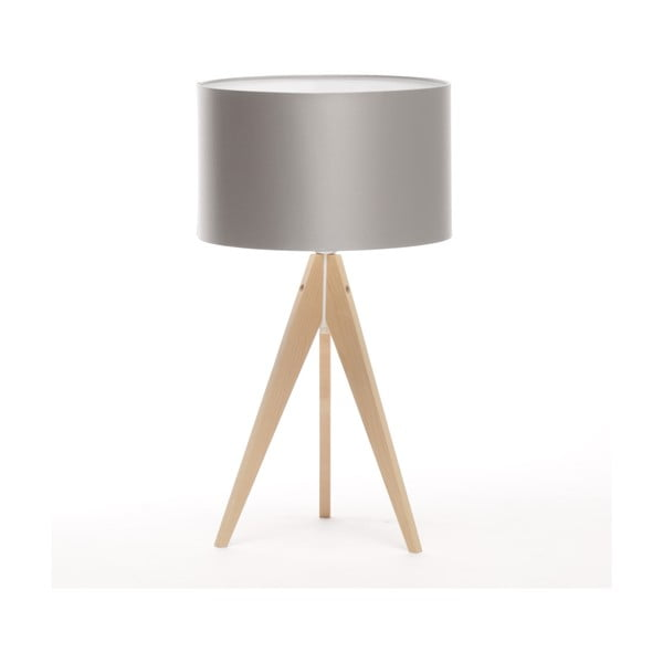 Stolní lampa Artist Ice Silver/Natural Birch, 65 cm