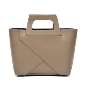 Béžová kožená kabelka Carla Ferreri Mismo Hunno