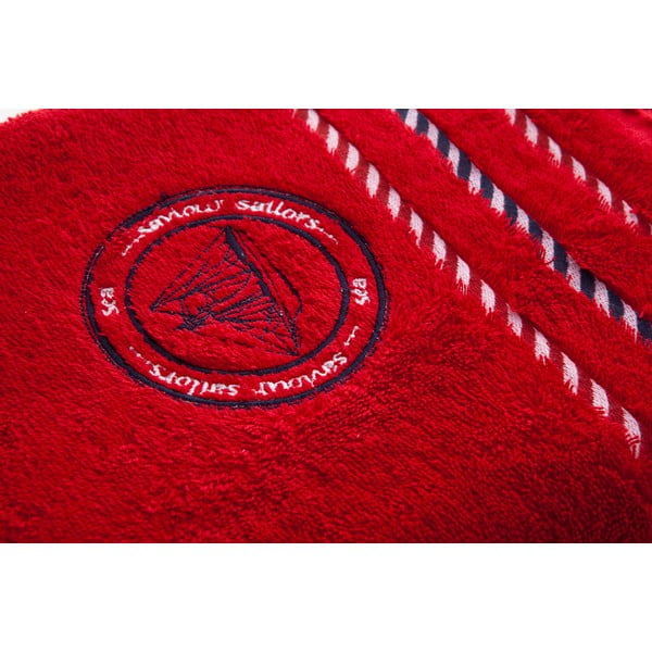 Osuška Sail Red, 140x70 cm