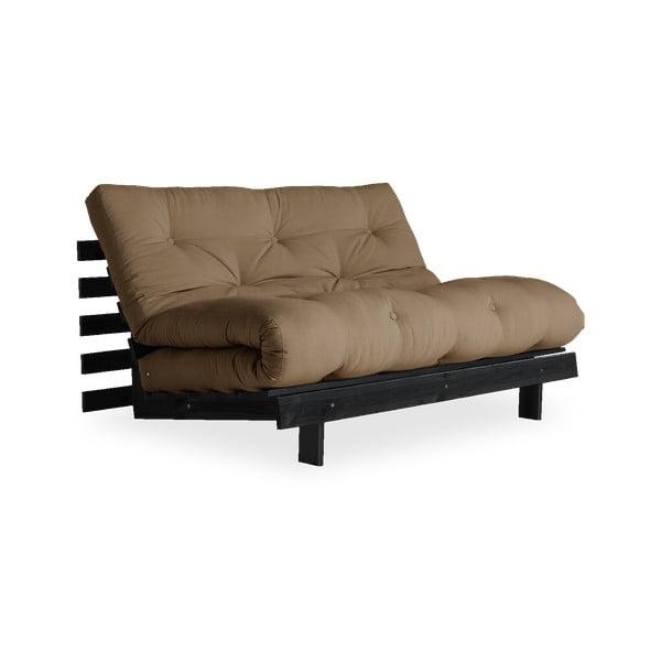 Canapea extensibilă Karup Design Roots Black/Mocca