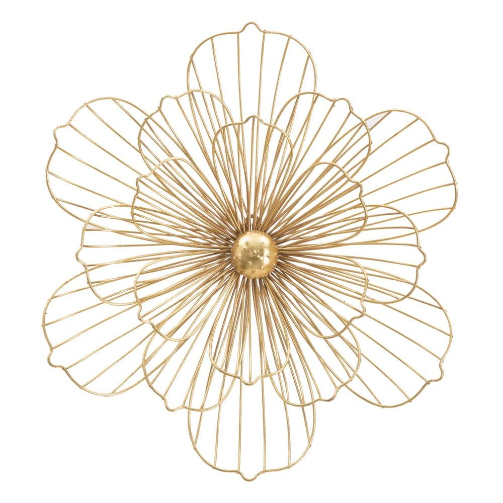 Nástěnná dekorace ve zlaté barvě Mauro Ferretti Flower Stick, 50x47cm