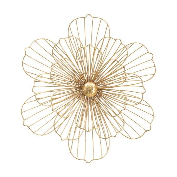 Decorațiune pentru perete Mauro Ferretti Flower Stick, 50x47cm, auriu