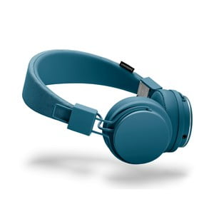 Modrá sluchátka s mikrofonem Urbanears PLATTAN II Indigo