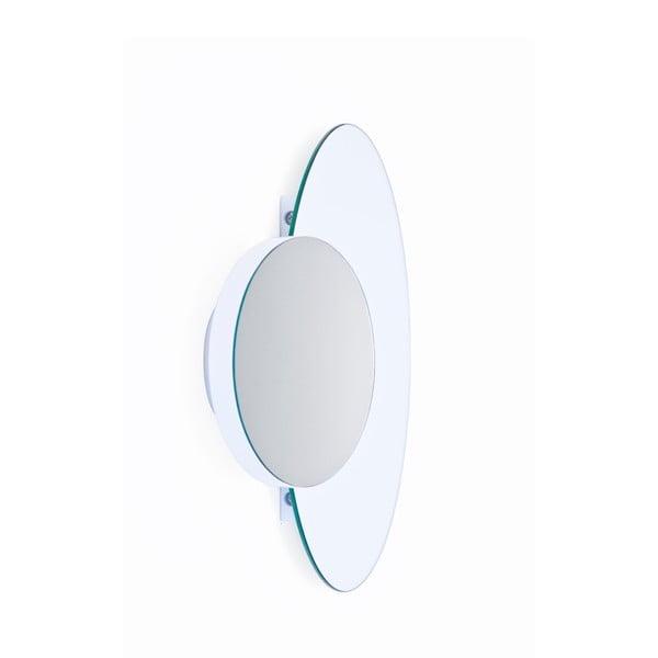 Bílé nástěnné zrcadlo Wireworks Eclipse