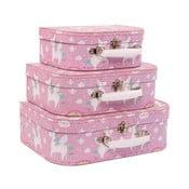 Sada 3 růžových kufříků Sass & Belle Rainbow