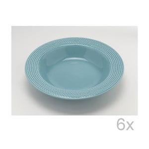 Hluboký talíř Turquoise 23 cm (6 ks)