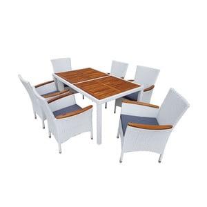 Set mobilier de grădină din ratan Paris White, alb