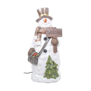 Svítící LED dekorativní soška Ewax Snowman Time