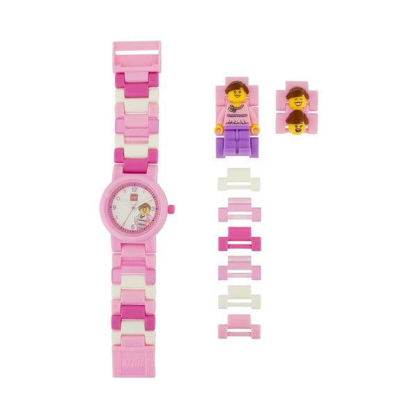 Ceas de mână și figurină LEGO® Classic, roz
