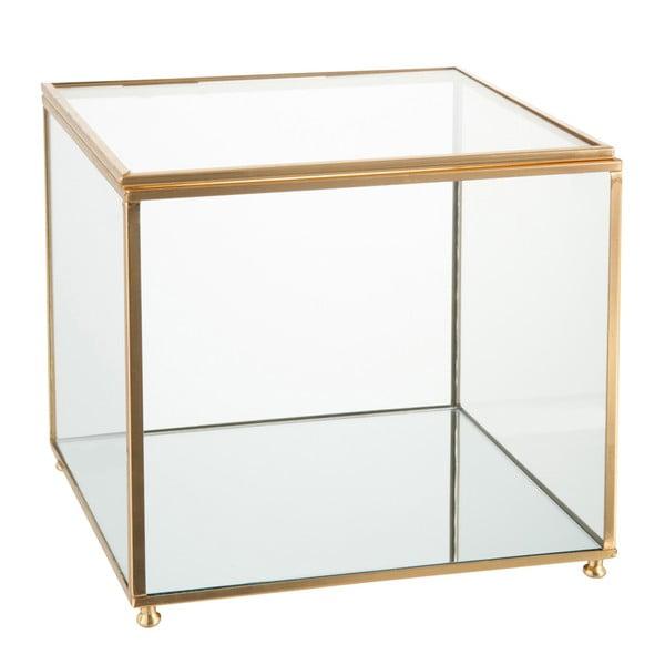 Skleněná šperkovnice J-Line Gold,18x16cm