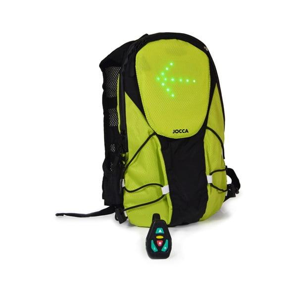 Zielony plecak rowerowy z elementami świetlnymi JOCCA Bike