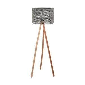 Šedá lampa zmangového dřeva LABEL51 Stripe