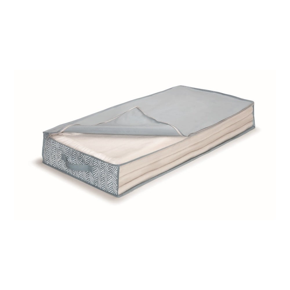 Modrý uložný box pod postel Cosatto Tweed, délka 100 cm