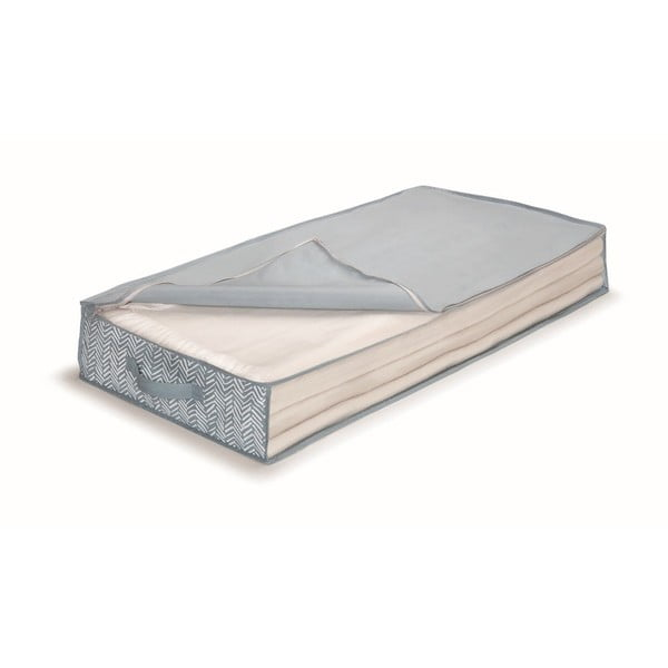 Modrý uložný box pod postel Cosatto Tweed,délka100cm