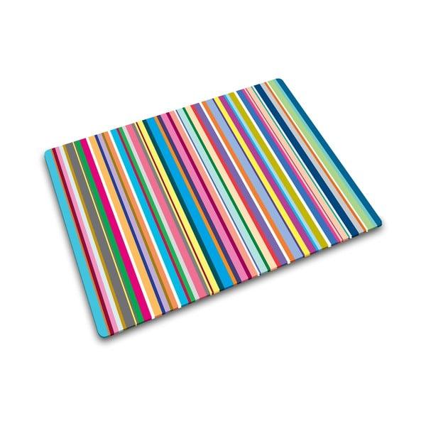 Multifukčná sklenená podložka Josoph Josoph Stripes, 40 x 30 cm
