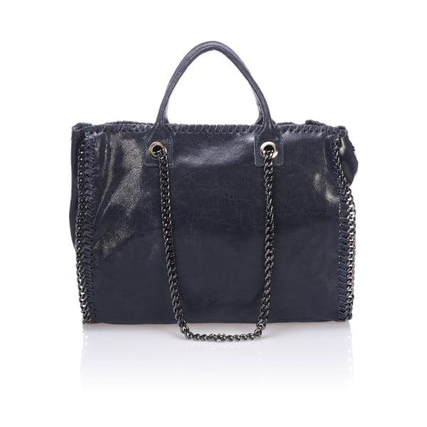 Kožená kabelka Markese 1169 Blue