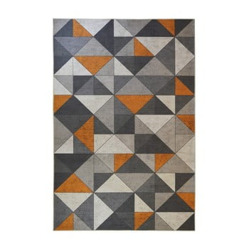 Covor Floorita Shapes, 120 x 180 cm, gri - portocaliu